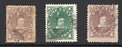Canada Newfoundland 3x KEV111 as Prince of Wales issues see scans x2
