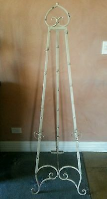 Easel 157 Cm High Antique/vintage Distress Cream / Wedding / Photo/painting New