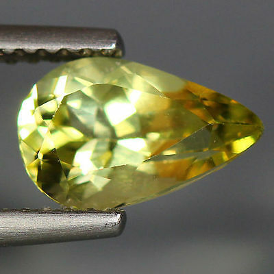 1.29 Cts_Wow Unbelivable Brazilian Gemstone_100 % Natural Heliodore Yellow Beryl