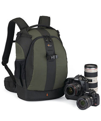 Lowepro Flipside 400 AW DSLR Camera Photo Bag Backpack & Weather Cover Green