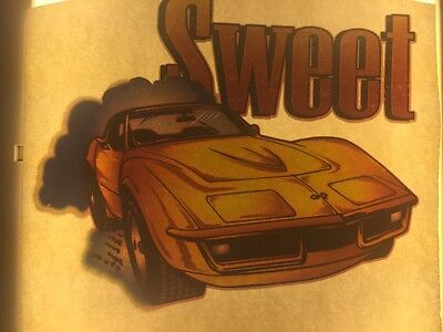 "Chevrolet Vintage Corvette Iron On Transfer Muscle Car ""sweet"""