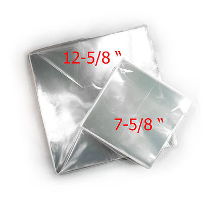 """Clear Plastic Sleeves Record Cover for LP 12"""" & 45 RPM 7"""" Outer Album OPP Vinyl"""