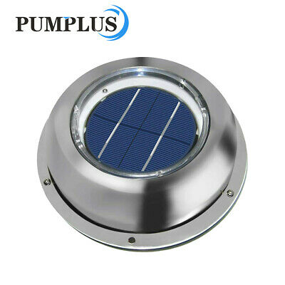 ECO Solar Vent Fan Exhaust Ventilation Stainless Steel for Car Boat Kitchens New