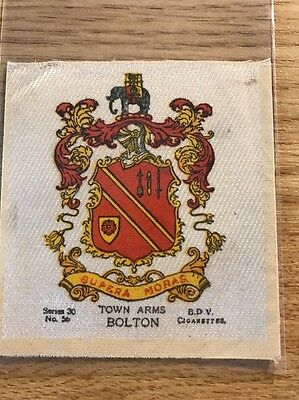 silk BDV Phillips Town And City Arms Large Size No56 Bolton