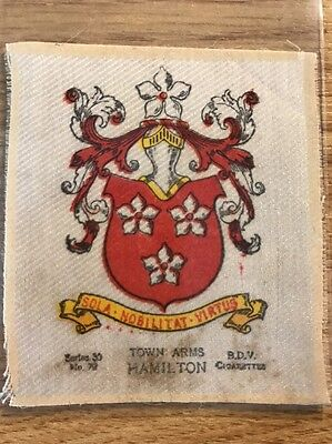 silk BDV Phillips Town And City Arms Large Size No72 Hamilton
