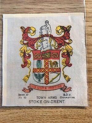 silk BDV Phillips Town And City Arms Large Size No50 Stoke On Trent