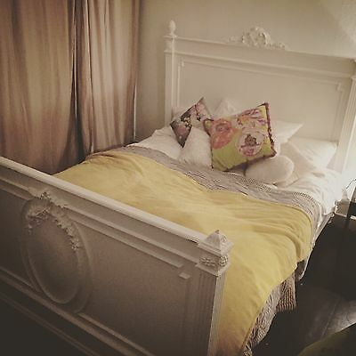 Vintage Shabby Chic Double Bed
