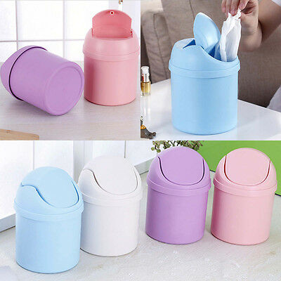 Mini Multifunction Desktop Garbage Basket Table Trash Can Dustbin Container Home