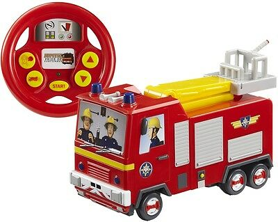 Charge Fireman Sam Drive Steer Jupiter Remote Control Sound Theme Tune Toy Gifts