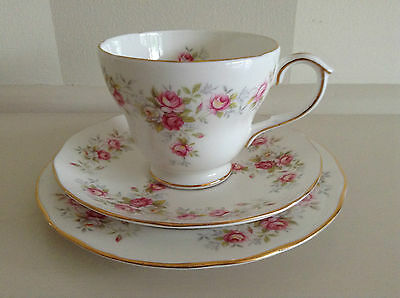 Vintage Duchess English Bone China Cup Saucer And Plate - June Bouquet.