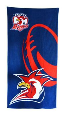 NRL Official Sydney Roosters Supporter Cotton Velour Beach Towel