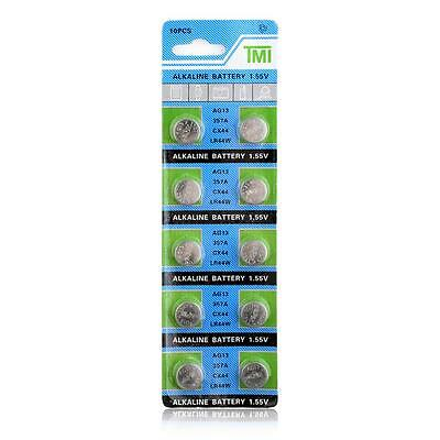 10 X Ag13 Lr44 Sr44 L1154 357 A76 Quality Alkaline Button / Coin Cells Batteries