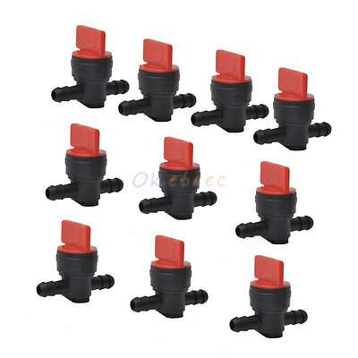"(10) 1/4"" In-Line Straight Fuel Gas Shut Off/Cut Off Valves Petcock for Kohler"