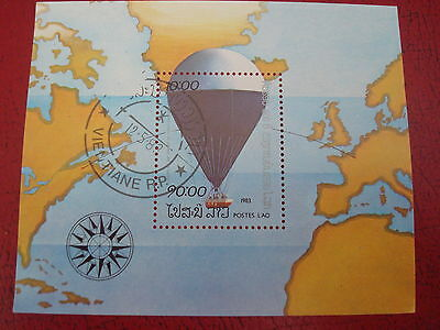 Laos - 1983 Hot-Air Balloon - Minisheet - Unmounted Used - Ex. Condition