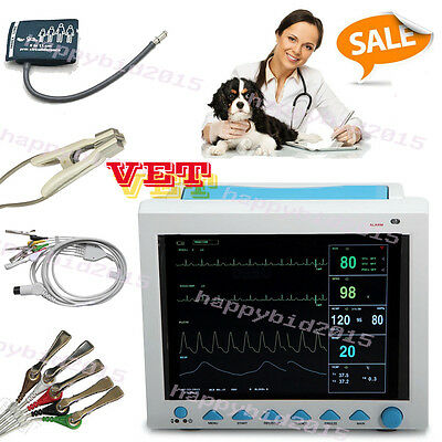 Vet Veterinary Patient Monitor 6 Parameter,ECG,NIBP,PR,Spo2,Temp,Resp,CE,FDA