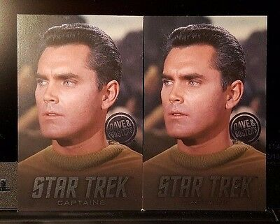 TWO (x2) D&B Captain Pike RARE Cards - Dave and Busters Star Trek Coin Pusher