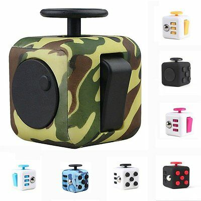 Fidget Cube 2017 Children Desk Toy Adults Stress Relief ADHD - SELECT YOUR COLOR