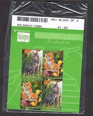 1996 Australia Decimal Stamps - Pets Collectors Pack - MNH Block of 4
