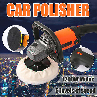 Car Polisher Buffer 1200W 180MM Buff Pad Sander Electric Tools Variable Speed