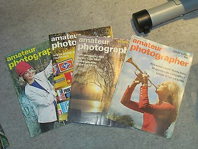 AMATEUR PHOTOGRAPHER - 4x MAGAZINE LOT - 1971 - Very Rare ! Camera Photography