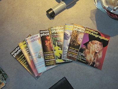 AMATEUR PHOTOGRAPHER - 9x MAGAZINE LOT - 1973 - Very Rare ! Camera Photography