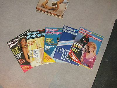 AMATEUR PHOTOGRAPHER -5x MAGAZINE LOT - 1984 Very Rare ! Camera Photography
