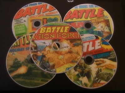 BATTLE ACTION FORCE COMIC COLLECTION  PDF on 5 DVD s GREAT WAR STORIES & ARTWORK