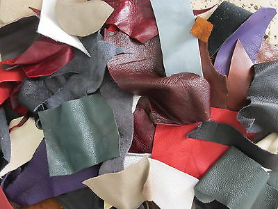 200g MIXED GENUINE LEATHER/SUEDE/CRAFT/SCRAP/REMNANT/PIECES/OFFCUT/REPAIR PATCH