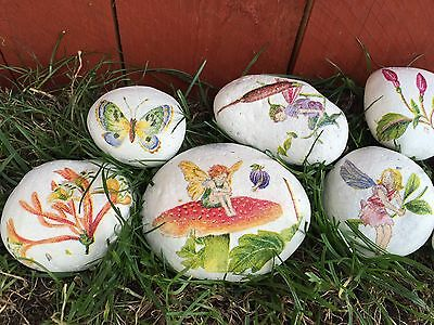20x Pebbles Rock Fairy Decorative Garden Grave Ornaments