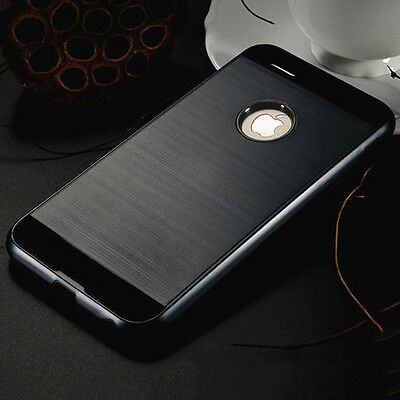 Anti-shock Hard Back Black Hybrid Armor Case Cover For Iphone 7 {[ln134