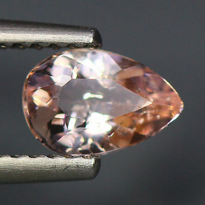 0.74 Cts_Simmering Ultra Nice Color_100 % Natural Peach Pink Morganite_Brazil