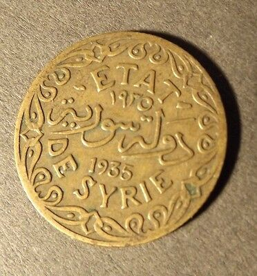 Syria 5 Piastre Coin Dated 1935