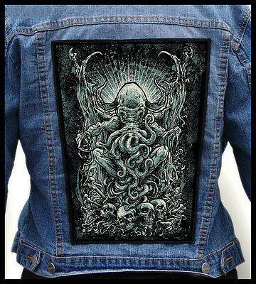 CTHULHU --- Giant Backpatch Back Patch / H.P. Lovecraft Necronomicon
