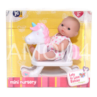 Berenguer Baby Doll Mini Nursery on Rocking Horse Lots to Love Babies *New