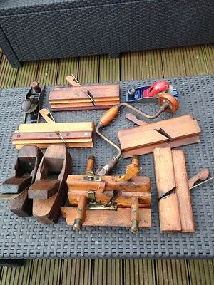 Job Lot Various Wood Working Tools Antique And Vintage