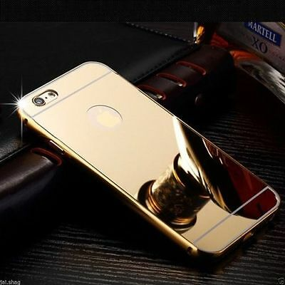 Gold Aluminum Mirror Metal Hard Protective Back Case For Iphone 7 plus{[ln69