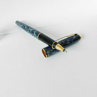 PARKER SONNET Rollerball pen Laque Indigo France III with Gold Trim 1994