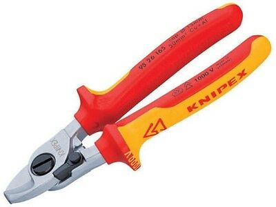 Knipex 9526165 Cable Shears Return Spring 165mm VDE Insulated 1000v 95 26 165