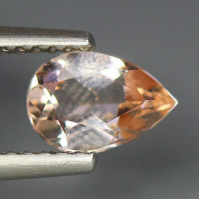 0.71 Cts_Simmering Ultra Nice Color_100 % Natural Peach Pink Morganite_Brazil