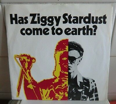 """DAVID BOWIE -Has Ziggy Stardust come to Earth? Who can I be now 45 giri 7"""" promo"""