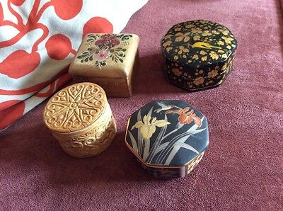 trinket boxes Vintage (4) very different designs see photos