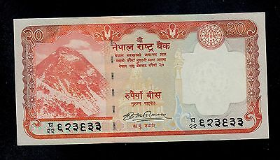 Nepal  20 Rupees  2008   Pick # 62 Unc  Banknote.