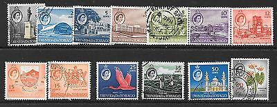 TRINIDAD & TOBAGO SG284/94 1960 DEFINITIVES TO 60c FINE USED