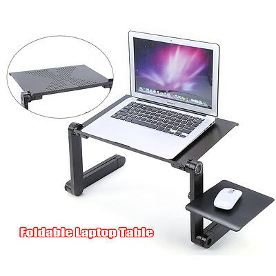 Black Adjustable Portable Laptop Table Stand Lap Couch Bed Tray PC Notebook Desk
