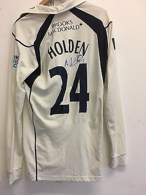 Max Holden signed Middlesex Cricket Championship shirt