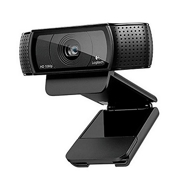 Logitech HD Pro USB Webcam C920 1080p Video Microphone PC Laptop Skype Streaming