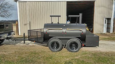 *custom Reverse Flow Bbq Smoker Trailer