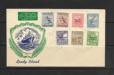 GB -  LUNDY -  1st Day Cover - 1953 Coronation