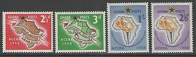 Ghana Sg189/92 1958 First Conference Of Indpendence Mnh