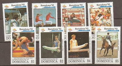 Dominica Sg1603/10 1992 Olympic Games  Mnh